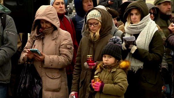 Hommage aux victimes de la répression stalinienne à Moscou