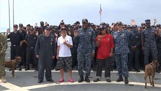 Velejadoras resgatadas no Pacífico chegam a terra