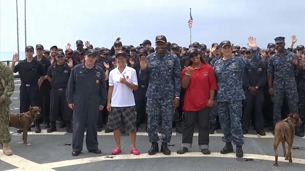 Finally, dry land: rescued sailors come ashore after five-month ordeal