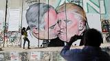 Bruderkuss in Bethlehem: Neues Trump-Graffito