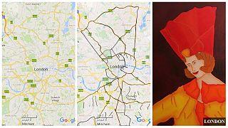 هنرمند ایرانی چهره نقشه شهرهای دنیا را نقاشی میکند