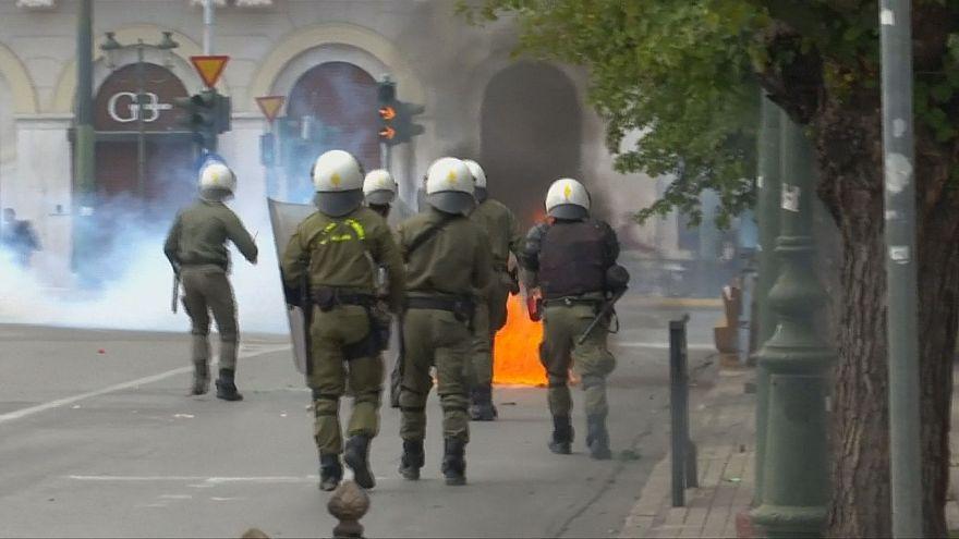 Greece: student protest turns violent