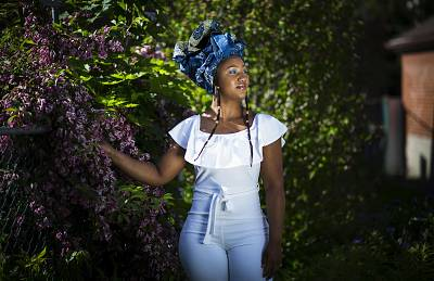 Former Gambian beauty queen, Toufah Jallow, who has accused the ex-President of Gambia Yahya Jammeh of raping her, in her Toronto home on June 8.