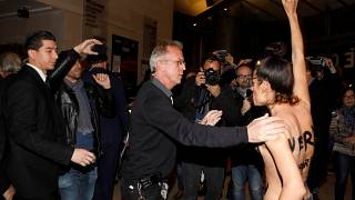 Polanski kendisi için düzenlenen etkinlikte protesto edildi