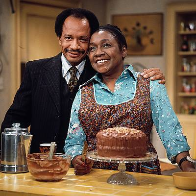 """Experts say laughing along with our favorite old sitcoms, like, for example, """"The Jeffersons,"""" can helps us feel calm and happy in a world that feels increasingly chaotic."""