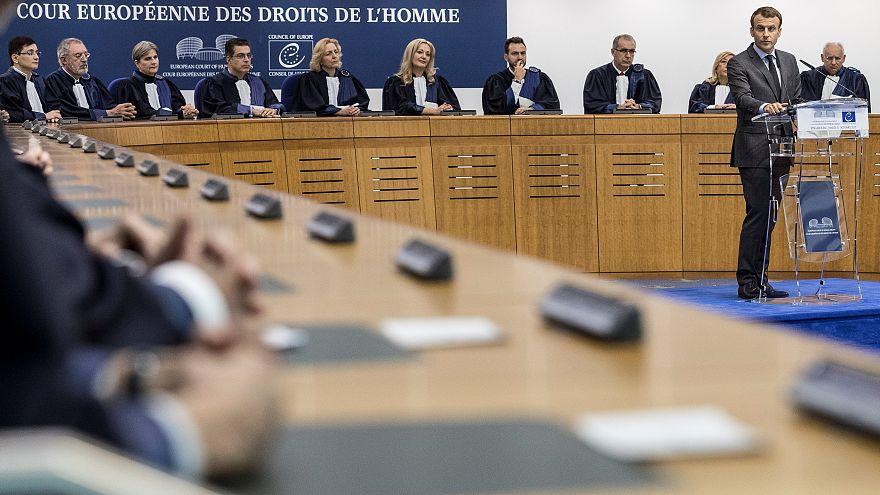 E. Macron rassure la CEDH sur sa loi antiterroriste