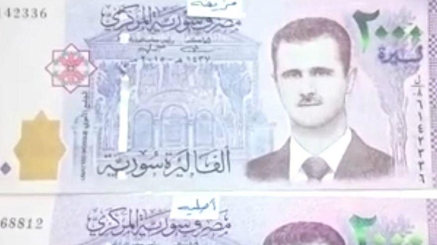 حاكم مصرف سوريا المركزي ينشر فيديو لكشف الأوراق النقدية المزورة