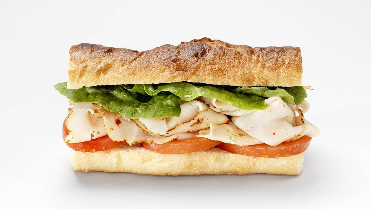 Image: Turkey Sandwich on a Baguette