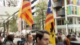 Tumultuosa rueda de prensa de Puigdemont en Bruselas