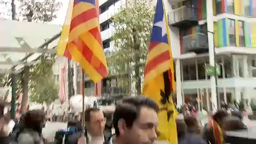 Deposed Catalan leader makes his case in Brussels