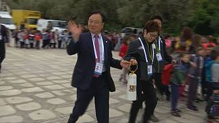 PyeongChang Kış Olimpiyatları'nın meşalesi teslim edildi