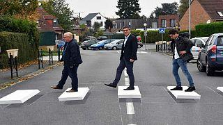 معبر للمشاة ثلاثي الأبعاد لأول مرة في فرنسا