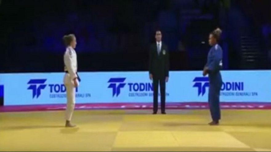 لاعبة جودو مغربية ترفض مصافحة منافستها الإسرائيلية في أبوظبي