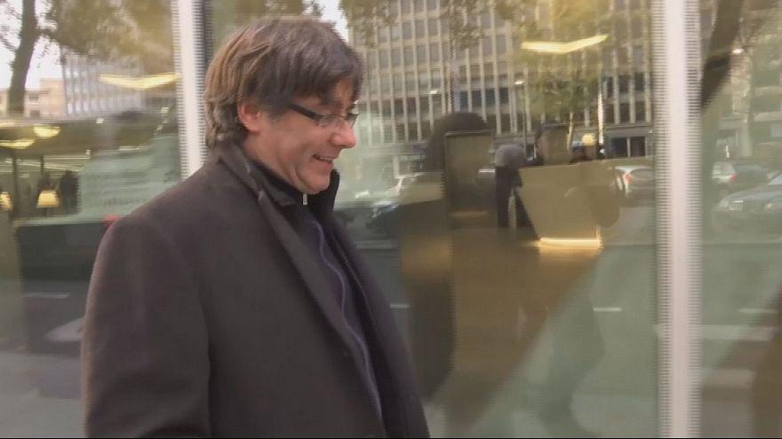 Katalan lider Brüksel sokaklarında