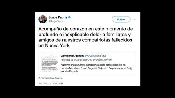 Ataque de Nova Iorque chora-se na Argentina