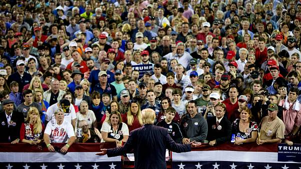 Image: Donald Trump speaks at a campaign rally at Valdosta State University