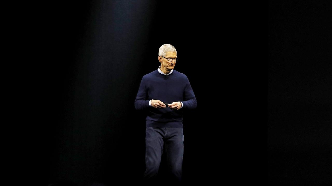 Image: Tim Cook, CEO of Apple, speaks at a conference in San Jose, Californ