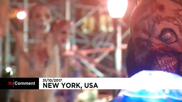 New York's Halloween parade goes ahead