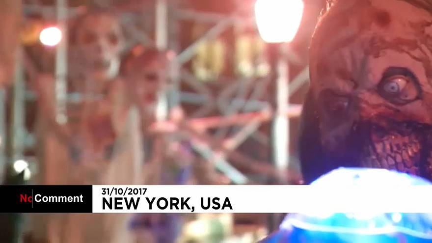 New York's Halloween parade goes ahead