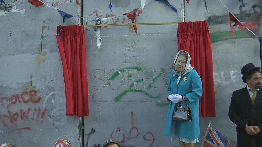 Banksy hosts Bethlehem street party to mark Balfour Declaration centenary