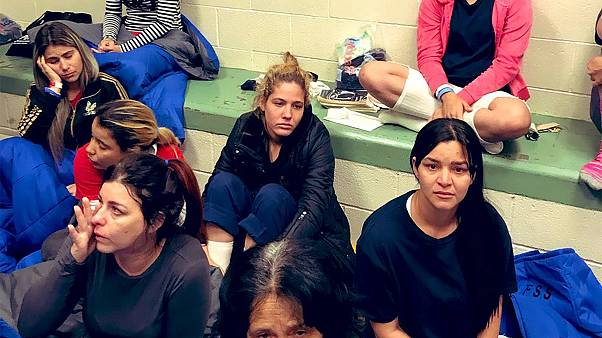 Image: Detained women at Clint Border patrol Station