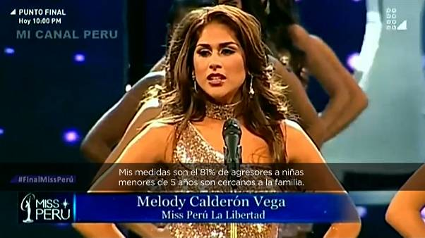 Miss Peru contestants share gender violence stats instead of body measurements