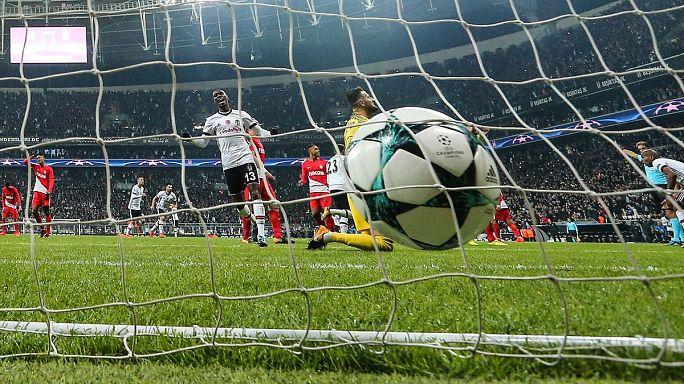 Beşiktaş Şampiyonlar Ligi'nde tur kapısını araladı