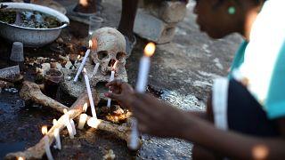 Homenagens aos mortos no Haiti