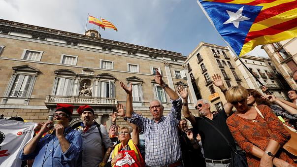 Katalanlardan tutuklama taleplerine protesto