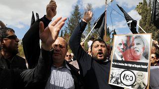 Palestinians protest against Balfour Declaration