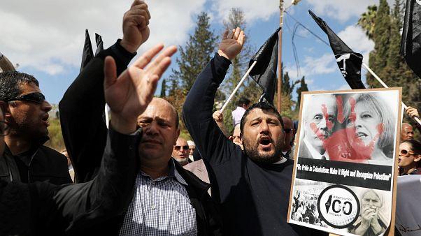 100 Jahre nach Balfour-Deklaration: Palästinenser protestieren gegen Briten