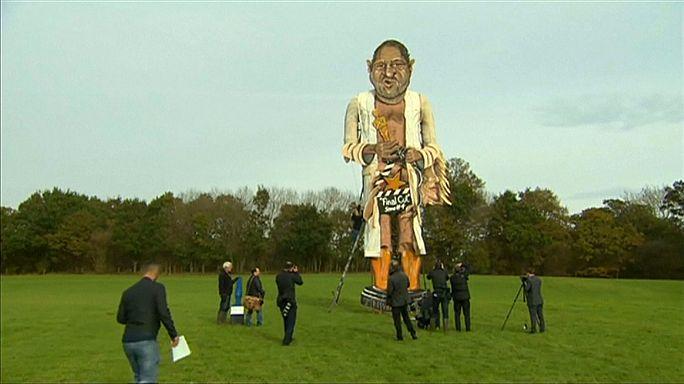 Una estatua gigante de Harvey Weinstein arderá en las hogueras de Guy Fawkes