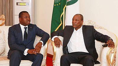 Togo's Gnassingbe and Guinea's Conde start Liberia mediation effort