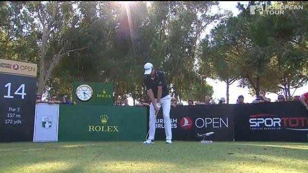 Turkish Airlines Open'ın ilk gününde golfçüler zorlandı