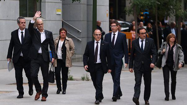 Előzetesbe került nyolc katalán kormánytag