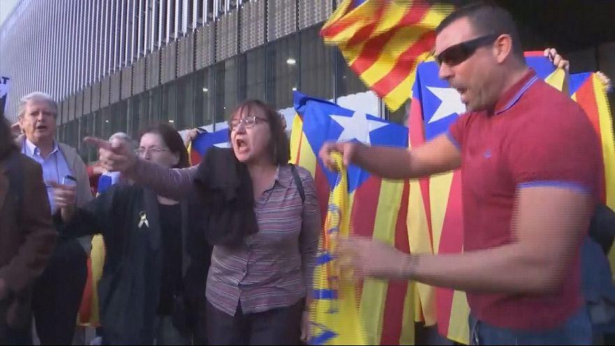Apoyo a la Mesa del Parlamento catalán tras viajar a Madrid para declarar