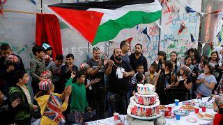 """مظاهرات في الأراضي الفلسطينية احتجاجا على """"وعد بلفور"""""""