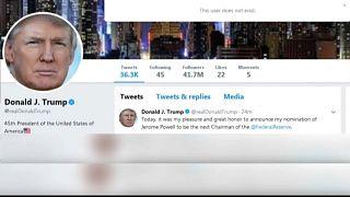 Trump'ın Twitter hesabı 11 dakikalığına kapatıldı