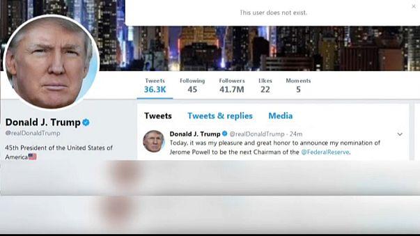 Trump desligado do Twitter