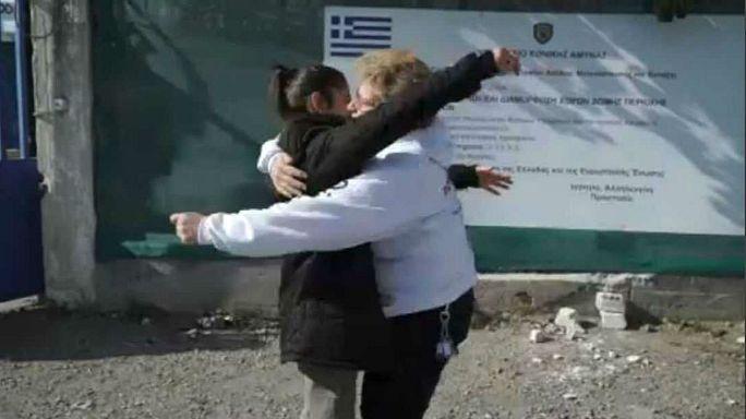 Tiempo de despedidas en el campo de refugiados de Oinofyta