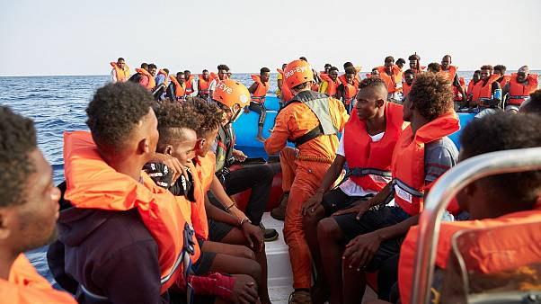 Image: The German migrant rescue charity NGO Sea-Eye helps people to get of
