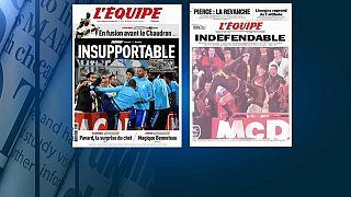 Evra suspendido provisionalmente del Olympique de Marsella por la patada a un aficionado