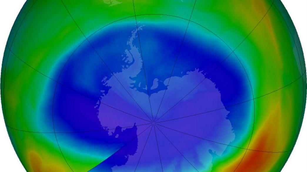 Συρρίκνωση της τρύπας του όζοντος