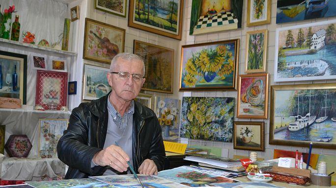 Bosnian pensioners make art to survive
