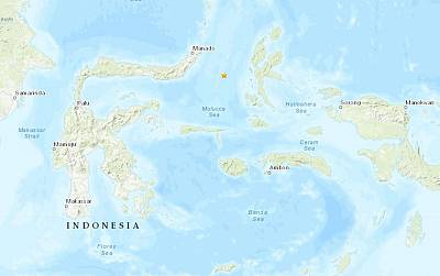 A tsunami warning was issued after a strong earthquake struck in the Molucca Sea near Indonesia.