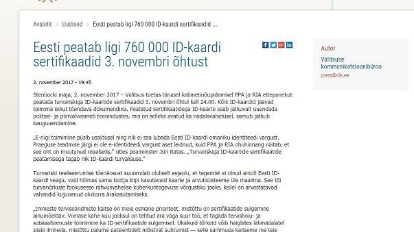 Estonia bloquea el acceso a internet con el carné de identidad