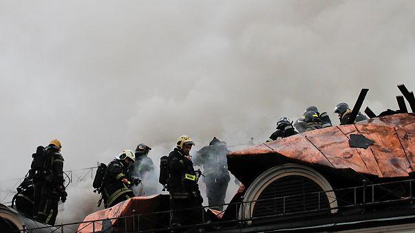 Пожар в московском музее