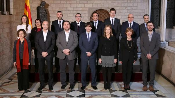 A week after independence was declared where are the Catalan leaders now?
