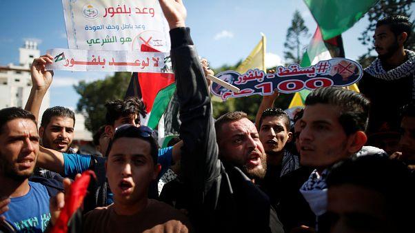 """Palästinenser protestieren gegen Beginn der """"Katastrophe"""""""