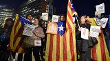 """""""Puigdemont è il nostro presidente"""", indipendentisti manifestano a Bruxelles"""